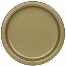 "Small Gold Plates - 7"" Paper Plates (20pcs)"